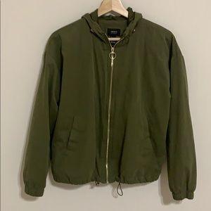 forever 21 green bomber jacket